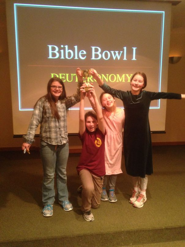 Bible Bowl 1 Champs