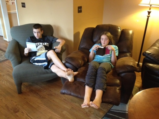 Justy and Betsy With Bibles